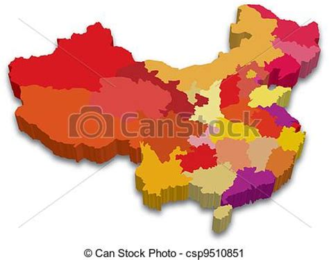 3d china province map