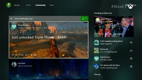 Xbox One New Dashboard User Interface Screens and Video