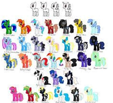 My little pony names, My little pony and Little pony on