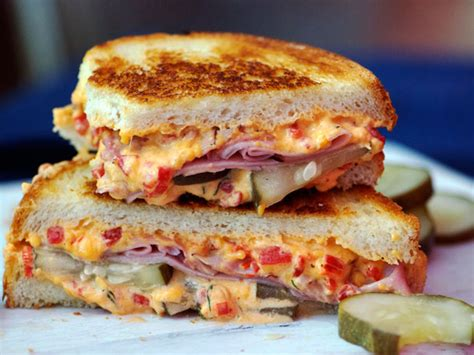 Sandwiched: Grilled Pimento Cheese, Ham, and Homemade