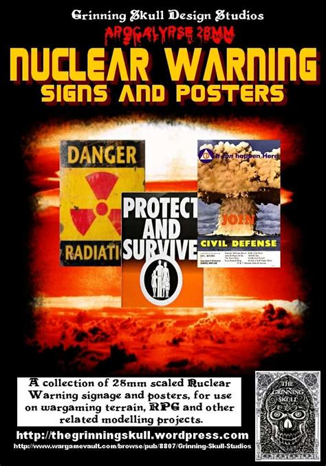 Apocalypse 28mm: Nuclear Warning signs & posters