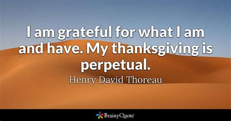 I am grateful for what I am and have