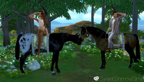 My Sims 4 Blog: Horse Riding Poses by SweetSorrowSims